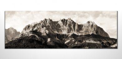 wilder kaiser panorama sepia leinwandbilder tirol. Black Bedroom Furniture Sets. Home Design Ideas