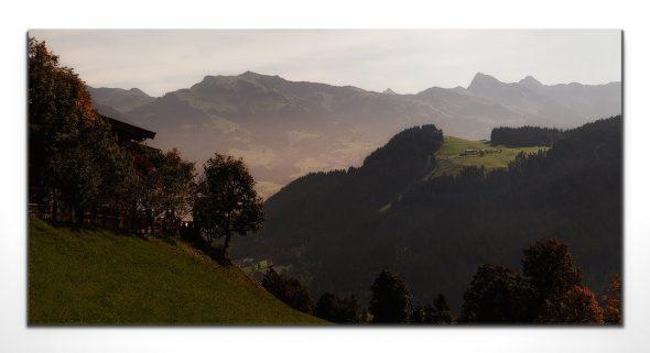 Kitzbühler Alpen Dämmerung, Leinwandbild