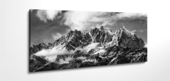 Wilder Kaiser, Canvas, black, white