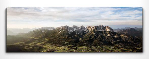 Leinwandbild Wilder Kaiser, Luftaufnahme
