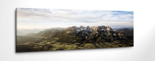 Luftaufnahme Wilder Kaiser Tirol Leinwanbild Canvas